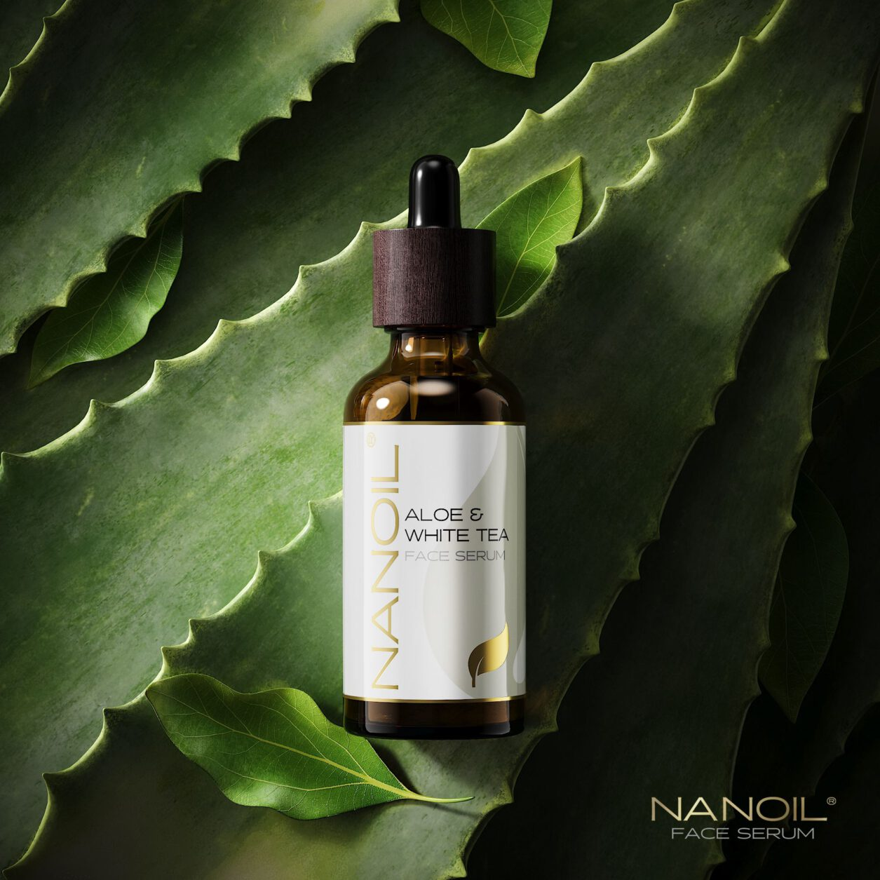 nanoil aloe vera and white tea face serum